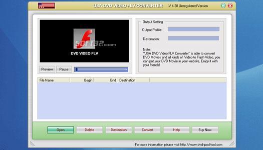 USAsoft DVD Video FLV Converter Screenshot 1