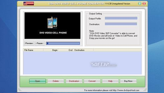 USA DVD to Cell Phone Converter Screenshot