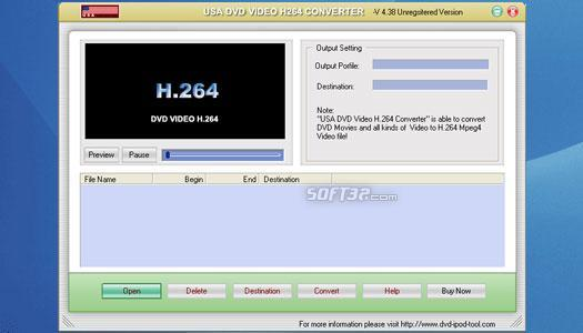 USA DVD to H.264 Converter Screenshot 1
