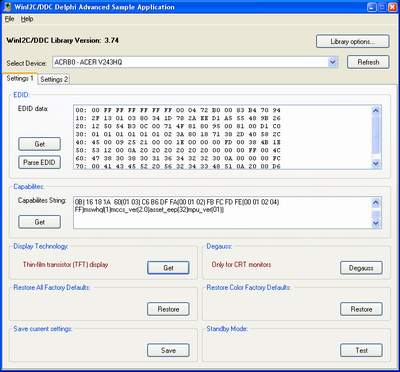 WinI2C-DDC Screenshot 1