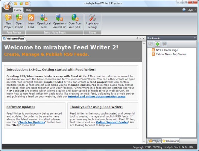 Feed Writer Deskop RSS Editor Screenshot