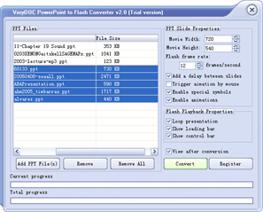 VeryDOC PowerPoint to Flash Converter Screenshot