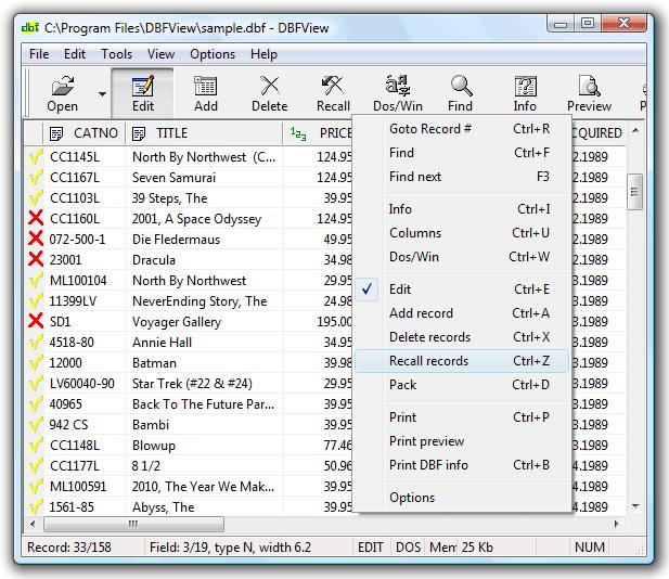 DBFView Screenshot 1