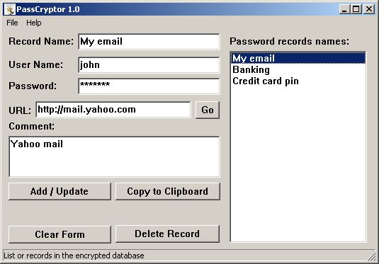 PassCryptor Screenshot 1