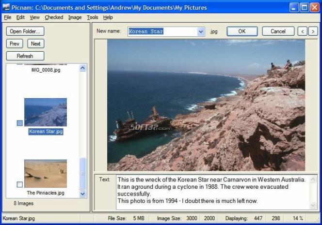 Picnam Digital Photo Renamer Screenshot 2