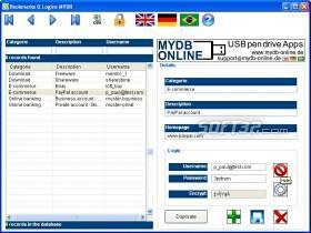 Bookmarks & Login Organizer MYDB Screenshot 2