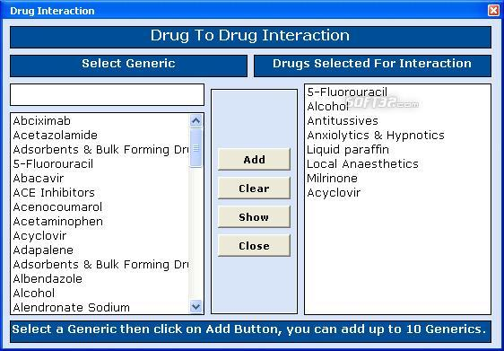 Medicia Drugs Report Screenshot