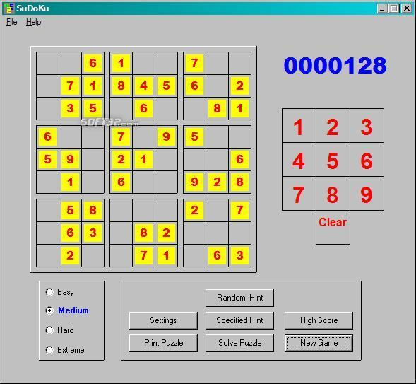 Tuffys World Of SuDoKu Screenshot