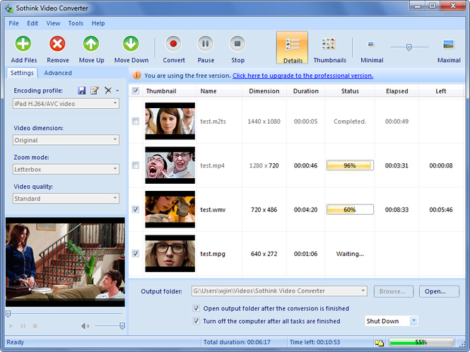 Sothink 3GP Video Converter Screenshot