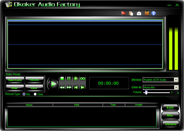 Okoker Audio Factory Screenshot