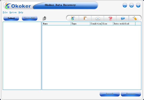 Okoker Data Recovery Screenshot