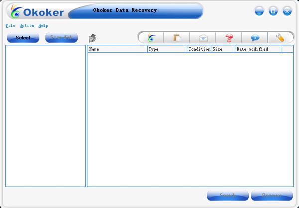 Okoker Data Recovery Screenshot 1