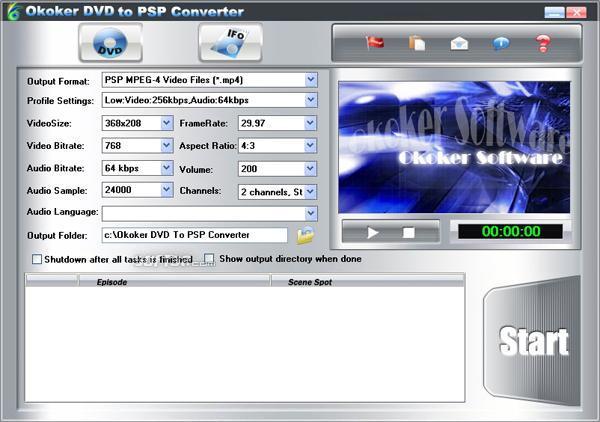 Altdo DVD to PSP Ripper Screenshot 3