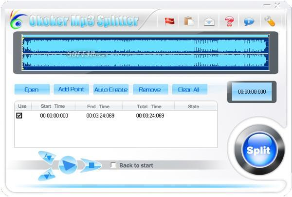 Okoker Mp3 Splitter Screenshot 3