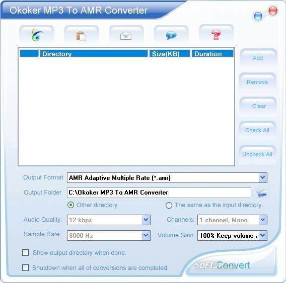 Okoker Mp3 to Amr Converter&Burner Screenshot 3