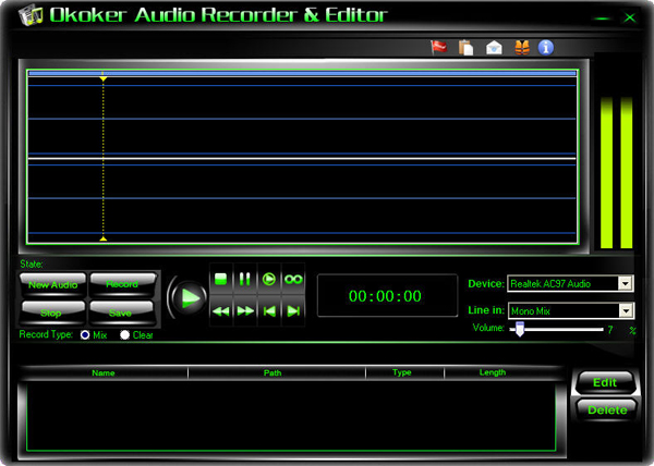 Okoker Audio Recorder&Editor Screenshot 1