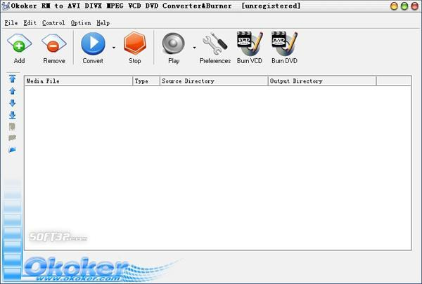 Okoker RM to AVI MPEG Converter&Burner Screenshot 3