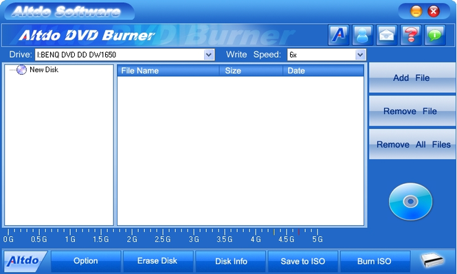 Altdo  DVD Burner Screenshot