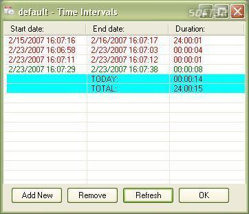 Time Aware 2007 Screenshot 2