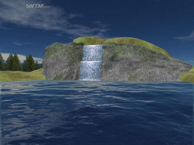 Mountain Lake Waterfall Screensaver Screenshot 2