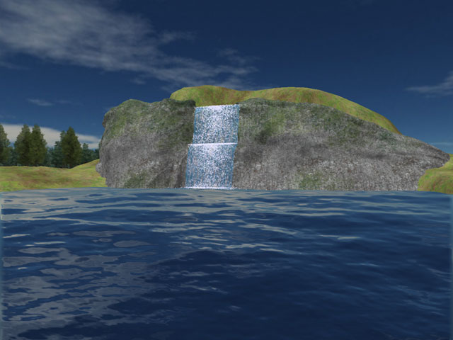 Mountain Lake Waterfall Screensaver Screenshot