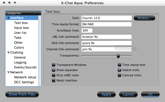 X-Chat Aqua Screenshot 4