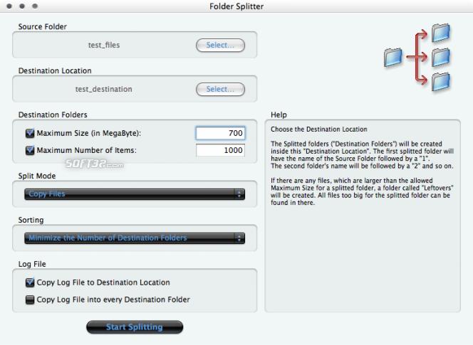 Folder Splitter Screenshot 2