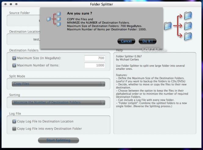 Folder Splitter Screenshot 3