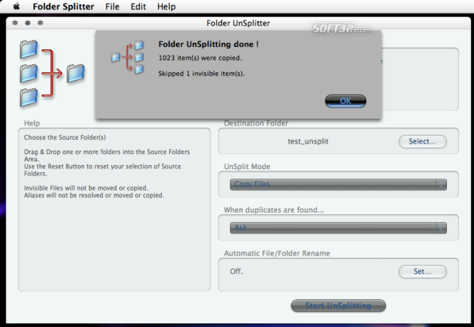 Folder Splitter Screenshot 9