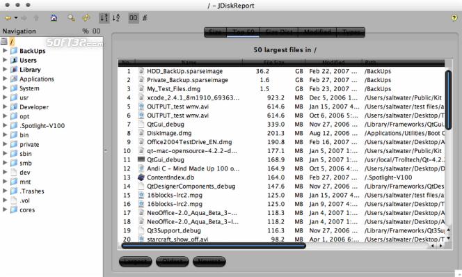 JDiskReport Screenshot 6