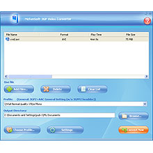 McFunSoft 3GP Video Converter Screenshot 1