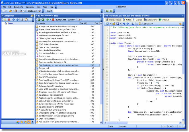 Java Code Library Screenshot 2