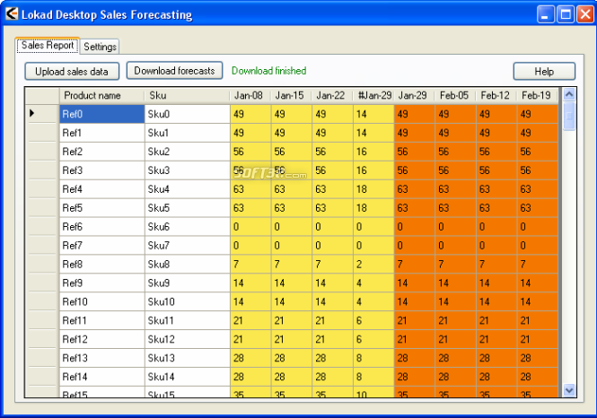 Lokad Desktop Sales Forecasting Screenshot
