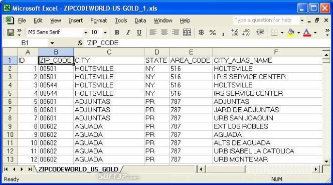 United States ZIP Code Database (Gold + Congressional District Edition) Screenshot 3