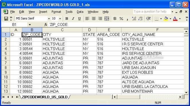United States ZIP Code Database (Gold + Multi-County Edition) Screenshot 3