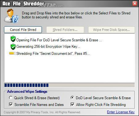 Ace File Shredder Screenshot 3