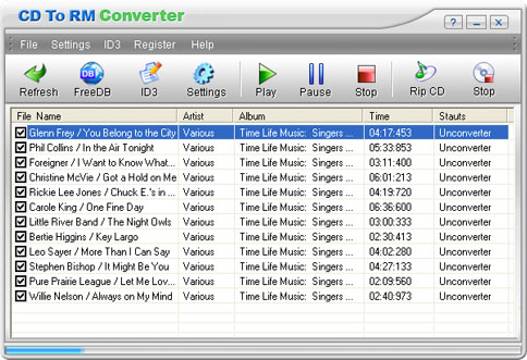 CD To RM Converter Screenshot 1