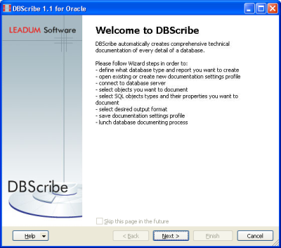 DBScribe for Oracle Screenshot