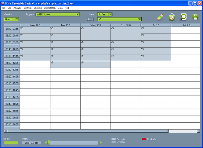 Wise Timetable Screenshot 1