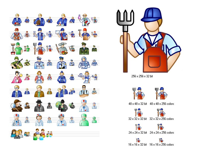 Job Icon Set Screenshot