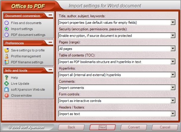 Office to PDF Screenshot