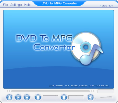 DVD To MPEG Ripper Screenshot 1