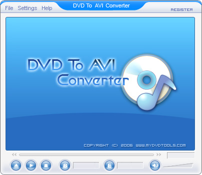 DVD To AVI Ripper Screenshot