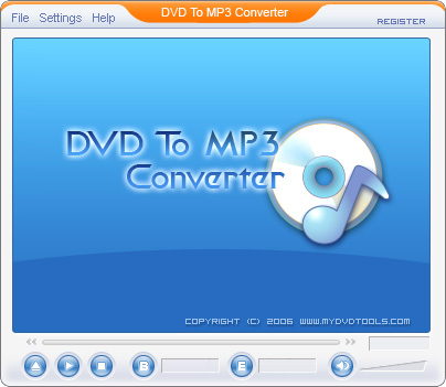 DVD To MP3 Ripper Screenshot