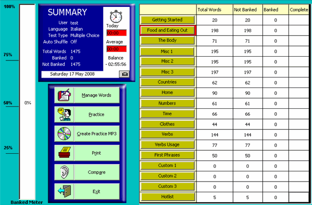 WordBanker Multilanguage Screenshot 1