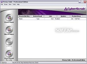 Cyberscrub Privacy Suite Screenshot