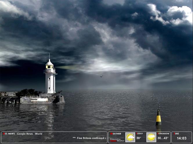 Majestic Lighthouse Screensaver Screenshot 1