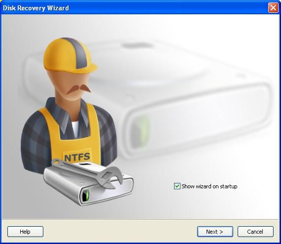 NTFS Data Recovery Screenshot