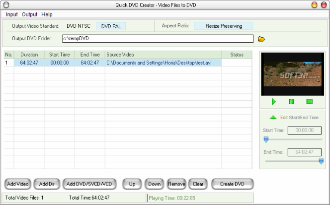 Quick DVD Creator Screenshot 8