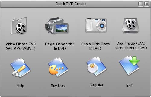 Quick DVD Creator Screenshot